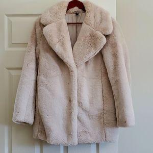 H&M Divided Faux Fur Coat Jacket